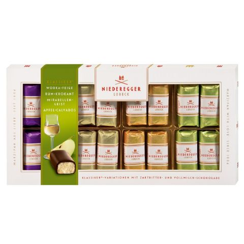 16 x Vodka Rum Brandy Calvados Liqueur Fruity Marzipan Mini Loaves NIEDEREGGER 200g